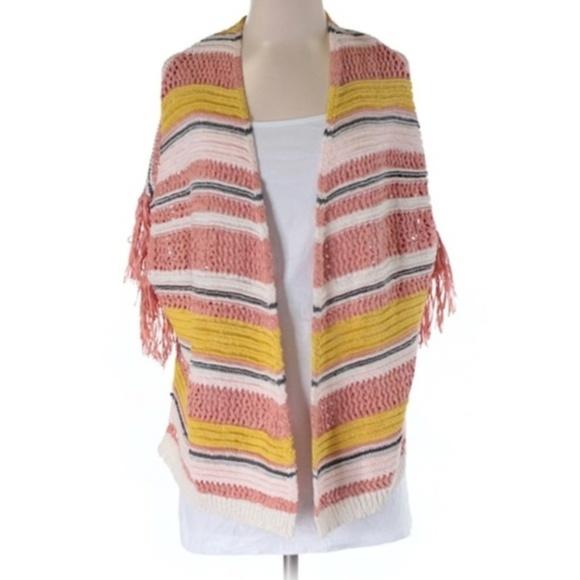 Jessica Simpson Sweaters - 2/$60 Jessica Simpson Stripe Boho Cardigan Sweater